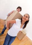 Couple moving Royalty Free Stock Photos