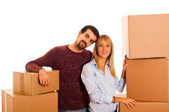 Couple on Moving Stock Images