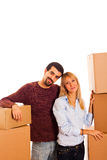 Couple on Moving Royalty Free Stock Image