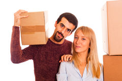 Couple on Moving Stock Photography