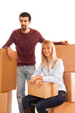 Couple on Moving Royalty Free Stock Photo
