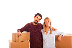 Couple on Moving Royalty Free Stock Photography