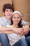 Couple moving Stock Photography