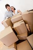 Couple moving Stock Image