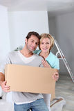 Couple on moving day Royalty Free Stock Images