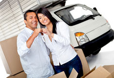 Couple moving home Stock Photography