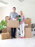 Couple moving  home Royalty Free Stock Image