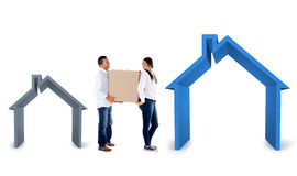 Couple moving house Royalty Free Stock Photos