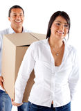 Couple moving house Royalty Free Stock Image