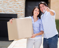 Couple moving house Stock Photography