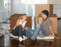 Couple Moving House Royalty Free Stock Photo
