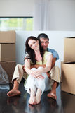 Couple moving house Royalty Free Stock Photography