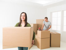 Couple moving house Stock Image