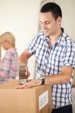 Couple moving house Royalty Free Stock Images