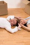 Couple Moving In Apartment Stock Photography