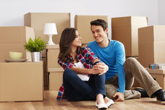 Free Couple Moving In House Stock Photos - 30295683