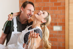 Couple moving in new apartment renovating Royalty Free Stock Photo