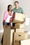 Couple Moving Into New Home Stock Image