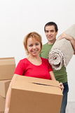 Couple moving into a new home Royalty Free Stock Photography