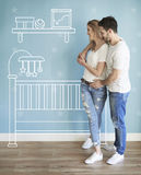 Couple moving new home Royalty Free Stock Photo