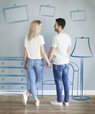 Couple moving new home Royalty Free Stock Photography