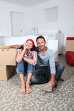 Couple moving in new house Royalty Free Stock Photography