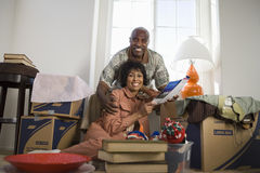 Couple Moving In New House Stock Photos