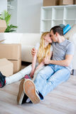 Couple moving into new house Stock Photography