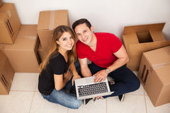 Couple moving in together Stock Images