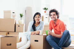 Couple Moving In Stock Images