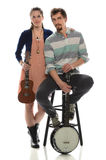 Couple With Musical Instruments Stock Image