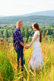 Couple on nature Stock Photo