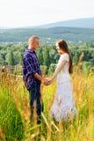 Couple on nature Stock Photo