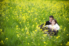 Couple in nature Stock Image