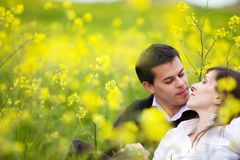 Couple in nature Royalty Free Stock Image