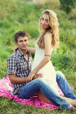 Couple on the nature Royalty Free Stock Image
