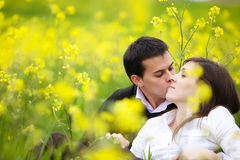 Couple in nature Stock Images