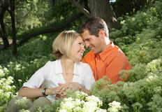Couple in Nature royalty free stock photo