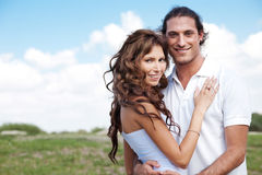 Couple on nature background Royalty Free Stock Photography