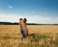 Couple on nature Royalty Free Stock Photography