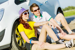 Couple near car Stock Photography