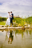 Couple near the lake Royalty Free Stock Photos
