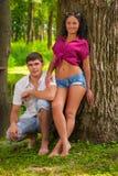 Couple near the tree Royalty Free Stock Photography