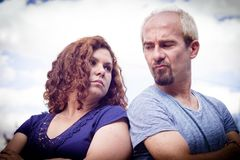Couple in negative attitude angry Stock Image