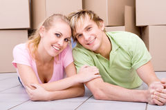 Couple new home Royalty Free Stock Image
