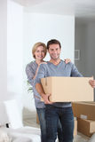 Couple in new home Royalty Free Stock Images