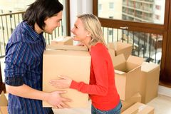 Couple in new home Stock Photos