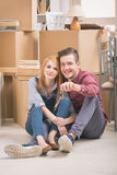 Couple at new home Stock Images