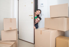 Couple in a new home Stock Photography