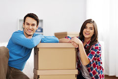 Couple in new home Royalty Free Stock Photos
